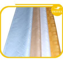 Shadda del damasco del brocado de Guinea del algodón 100% de la ropa del telar jacquar del algodón para el banquete de boda