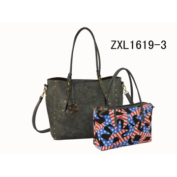Custom PU Elegance Designer Women Handbag Fashion Bags Ladies Handbags (ZXL1619-3)
