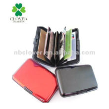 smooth surface aluminum credit card holder / id card holder / business card holder