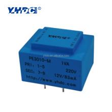 CE certificated 1VA 220Vinput exposy resin potting safety isolation transformer 1VA