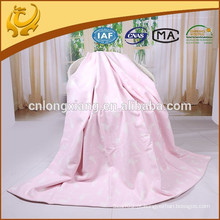 Princesa Popular Elefante de tamanho grande tecido 100% algodão Jacquard Baby Blanket
