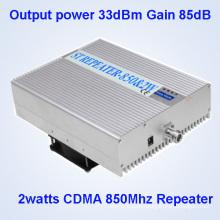 33dBm Выходная мощность 85dB Усиление CDMA850MHz сотовый телефон сигнала Booster