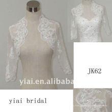 JK62 женщин из бисера с длинным рукавом свадебное куртка