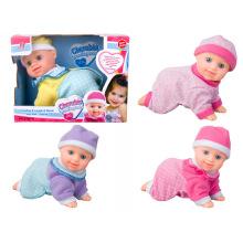 Plástico pilha funcionou boneca brinquedo boneca rastejar (h5740039)