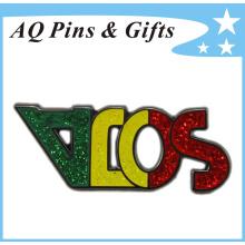 Metal, corte, brooch, crachá, em, brilho, Cloisonne, (badge-148)