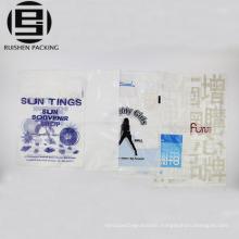 Custom made die cut handle designer plastic bags