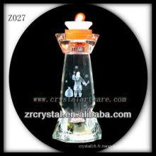 Bougeoir en cristal populaire Z027