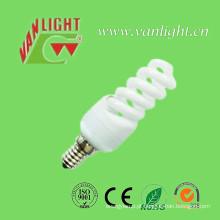 Lâmpadas CFL RoHS lâmpada poupança de energia de espiral completa E14/E27 11W