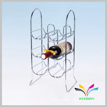 12 holders high capacity chrome plated display wine rack supermarket