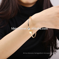 2017 Gold Plated Bangle Woman Jewelry Bracelet Open Bangle For Women 18K Gold Plated Big Bangle Bracelets