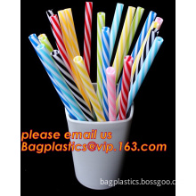 BPA-Free Reusable Straw,Plastic Thick Drinking Straws,Mason Jar Straws Mix Color Small Stripe, PET Hard Plastic Reusable Crazy