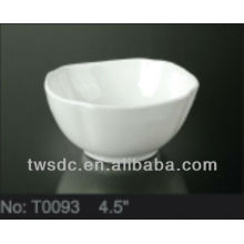 Restaurant and hotel tableware super white porcelain bowl
