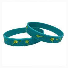 Eco-friendly Printed Custom Silicone Bracelet Wrist Band