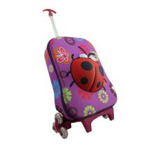 Saco de escola das crianças com personagens de desenhos animados bonitos de carrinho