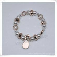 Elastic Bead Bracelets Designs Wholesale Plastic Rosaries (IO-CB176)