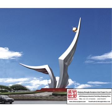 Outdoor Contemporary Stainless Steel Sculpture
