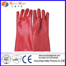towel lined PVC gauntlet glove