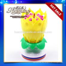 Blumen-Geburtstagskerze mit Musik / Geburtstagskerze mit Blumen
