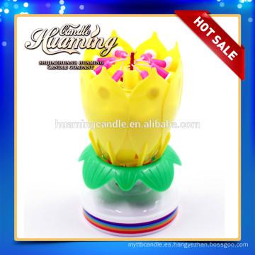 Vela de cumpleaños de flores con música / vela de cumpleaños con flores