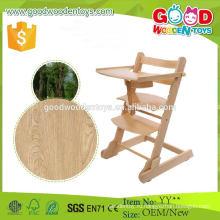 Европейский рынок популярного типа Деревянный высокий стул для детского сидения