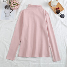 Ready to Shipin Stock Fast Dispatchlatest Design Fall Autumn Bottoming Shirt Solid Color Womens Crop Top Pullover Women Turtleneck Top