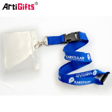 Hot sell printed cheap tube lanyard with work id card holder