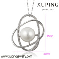 32119 xuping jewelry pearl jewelry Rhodium plated Micropaved Cubic Zirconia Diamond Oval Pear