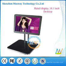10 inch small LCD display restaurant table advertising