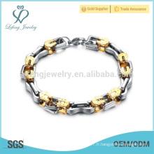 Bracelet à longue chaîne à la mode, bracelet à gueule de sport, bracelet imperméable à l'eau