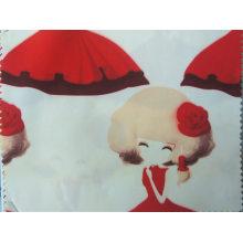 Tissu imprimé par polyester avec le tissu tricoté