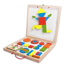 Blocs magnétiques en bois pour enfants et enfants