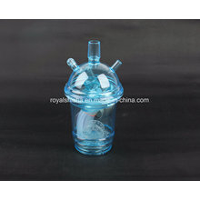 New Design Portable Cup Shape Acrylic Hookah Small Shisha with LED