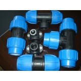 Blue PP Compression Fitting