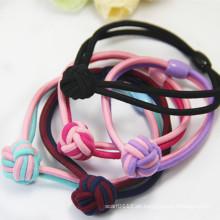 Handgemachte weben 2-Ton-Farben Gummi elastische Haarbänder (JE1573)