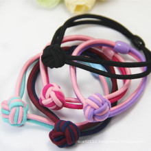 Handmade Weaving 2-Tone Colors Rubber Elastic Hairbands (JE1573)