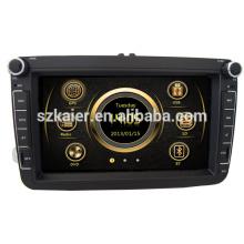 Nuevo diseño de dos zonas wince car deckless media para VW Sagitar / Magotan / Polo con GPS / Bluetooth / Radio / SWC / Virtual 6CD / 3G / ATV / iPod