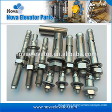 elevator expansion anchor bolts with nuts and washers