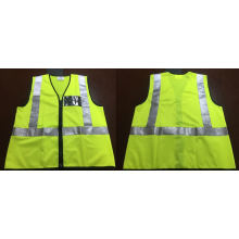Yellow Safety Vest, Made of Knitting Fabric, Meet En471