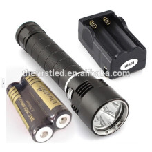 High Quality 3xCREE XM-L2 Magnetic Dimmable led CREE Flashlight Scuba Dive Gear