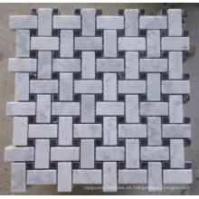 Mosaico de mármol de la baldosa del mosaico de Basketwave (HSM225)