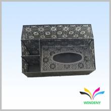 Büroartikel schwarzer Metall Serviette Taschentuchhalter