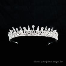 Acessórios de balé prata cristal strass coroa charme nupcial acessórios de balé tiara para mulheres