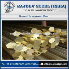 High Grade Brass Material Made Hexagonal Bar for Chemical Industries