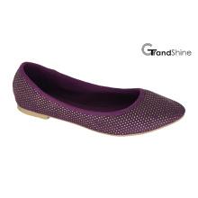 Frauen-Segeltuch mit Niet-flachen beiläufigen Ballett-Schuhen