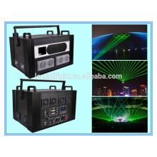 Único laser de animação verde