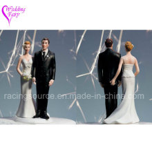 The Love Pinch Caucasian Couple Wedding Cake Topper Figurine