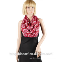 2016 Frühling / Sommer Dame klassische gedruckte Polyester Voile runden Schal Loop Schal
