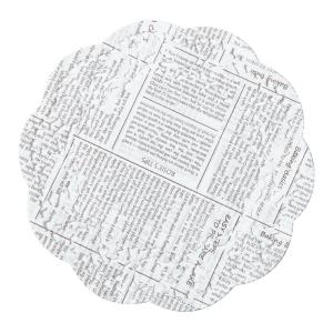 Newspaper Series  Round Lace  Paper Doilies