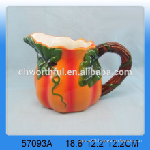 Lovely wholesale ceramic pumpkin milk jug for Harvest Day