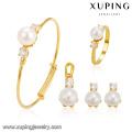 64241 xuping China Wholesale Fashion dubai gold jewelry pearl set gift for children